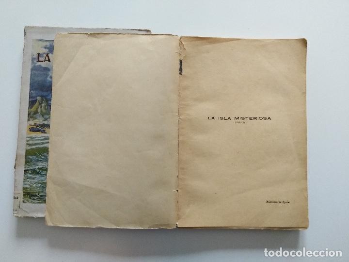 Libros antiguos: LA ISLA MISTERIOSA - TOMOS I Y II - COMPLETO - JULIO VERNE - EDITORIAL RAMÓN SOPENA - BARCELONA 1940 - Foto 8 - 199321097