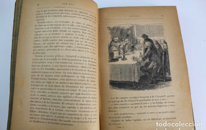 Libros antiguos: L-3389. ROB ROY, WALTER SCOTT. C. VERDAGUER IMPRESOR, EDITOR. BARCELONA. 1882. 2 TOMOS. - Foto 4 - 199587131