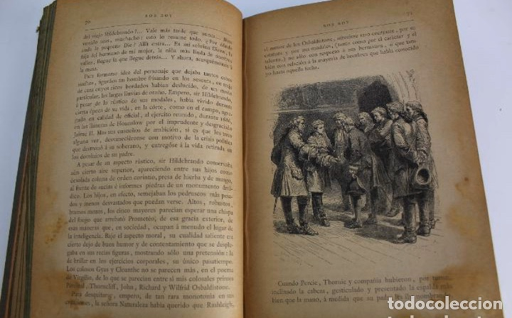 Libros antiguos: L-3389. ROB ROY, WALTER SCOTT. C. VERDAGUER IMPRESOR, EDITOR. BARCELONA. 1882. 2 TOMOS. - Foto 5 - 199587131