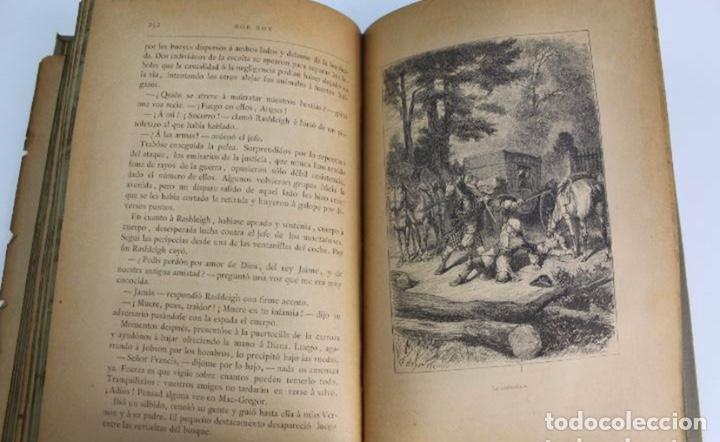 Libros antiguos: L-3389. ROB ROY, WALTER SCOTT. C. VERDAGUER IMPRESOR, EDITOR. BARCELONA. 1882. 2 TOMOS. - Foto 13 - 199587131