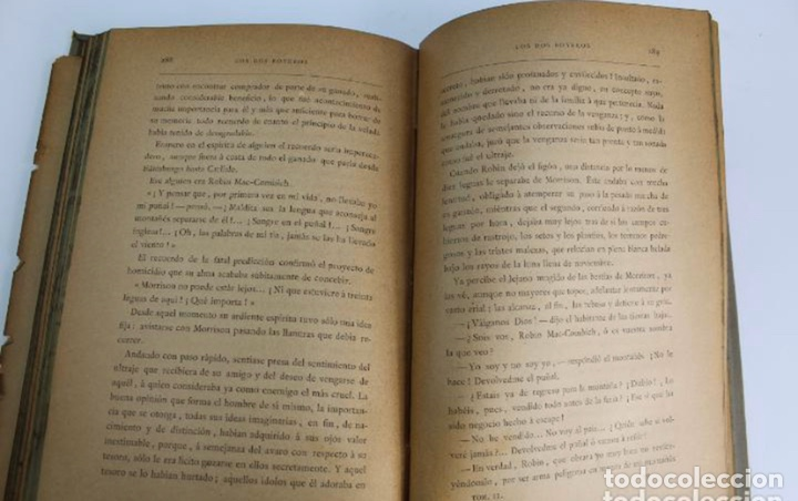 Libros antiguos: L-3389. ROB ROY, WALTER SCOTT. C. VERDAGUER IMPRESOR, EDITOR. BARCELONA. 1882. 2 TOMOS. - Foto 14 - 199587131