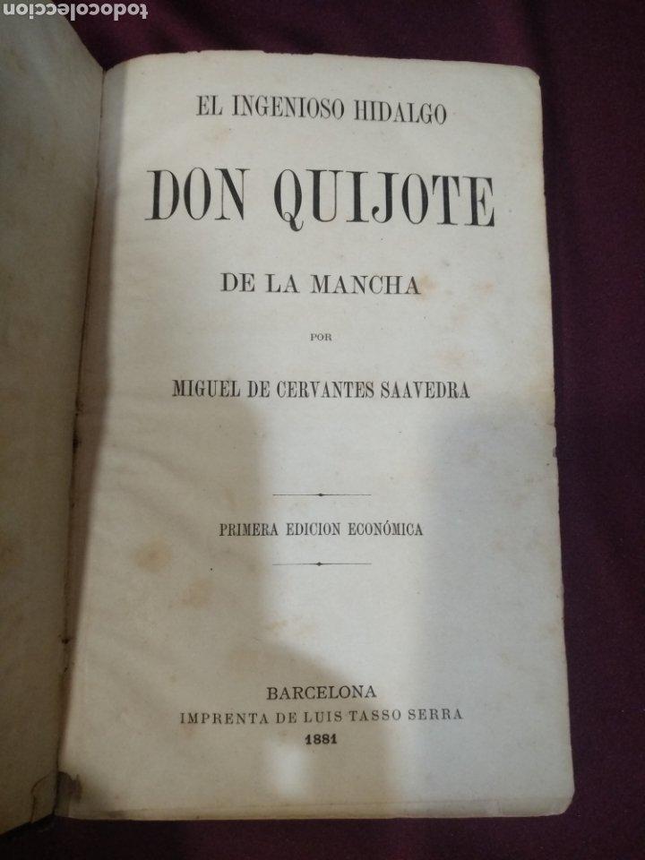 DON QUIJOTE DE LA MANCHA, 1881, IMPRENTA LUIS TASSO, PRIMERA EDICIÓN ECONÓMICA, (Libros antiguos (hasta 1936), raros y curiosos - Literatura - Narrativa - Clásicos)
