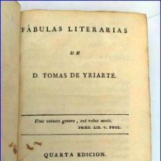 Libros antiguos: AÑO 1792: LAS FÁBULAS DE YRIARTE.. Lote 200401062