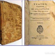 Libros antiguos: AÑO 1787: SAINETES DE RAMÓN DE LA CRUZ. PERGAMINO ESPAÑOL DEL SIGLO XVIII.. Lote 200526263