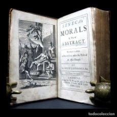 Libros antiguos: AÑO 1722 SÉNECA DE BENEFICIIS SOBRE LOS BENEFICIOS LUCIUS ANNAEUS ANTIGUA ROMA GRABADOS PLENA PÁGINA. Lote 115527183