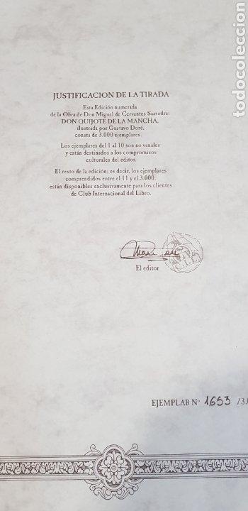 Libros antiguos: El Ingenioso Hidalgo don Quixote de la mancha- gran formato.ilustraciones de Gustavo Doré, Pisan. - Foto 2 - 202311211