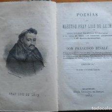 Libros antiguos: POESÍAS DE FRAY LUÍS DE LEÓN. MADRID, 1872. Lote 202490937