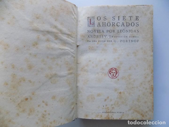 Libros antiguos: LIBRERIA GHOTICA. EDICIÓN EN PIEL DE LEÓNIDAS ANDREEV. LOS SIETE AHORCADOS.1920. - Foto 2 - 202520272