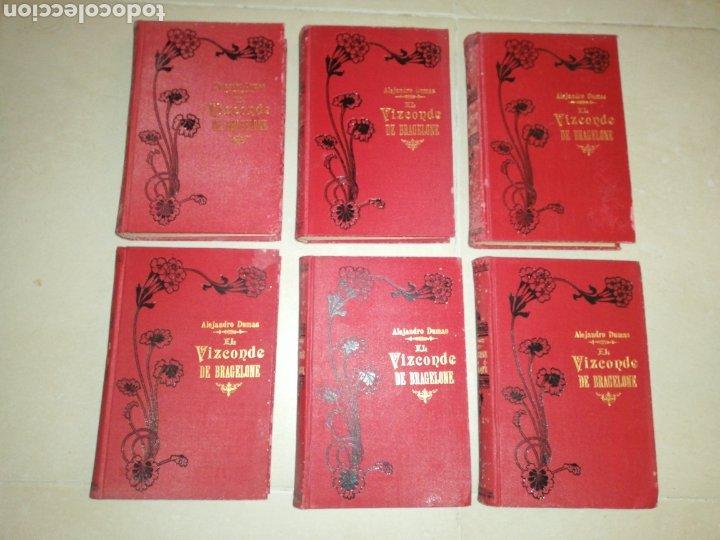 Libros antiguos: Alejandro Dumas el vizconde de Bragelonne (5 tomos) editorial moucciaño, año 1905 - Foto 2 - 203189758