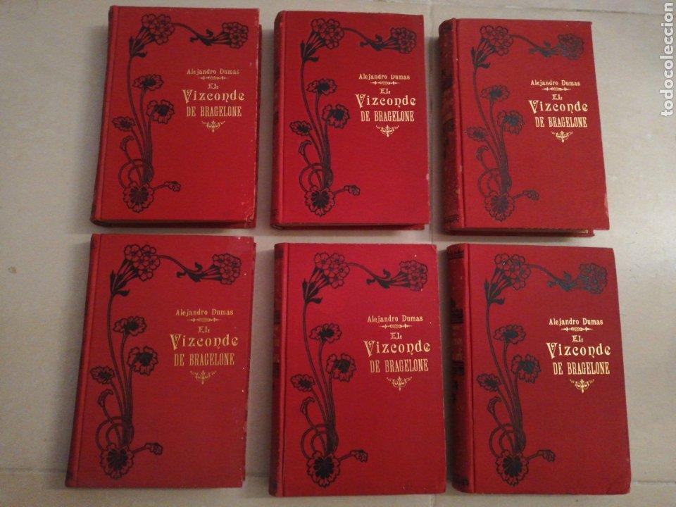 ALEJANDRO DUMAS EL VIZCONDE DE BRAGELONNE (5 TOMOS) EDITORIAL MOUCCIAÑO, AÑO 1905 (Libros antiguos (hasta 1936), raros y curiosos - Literatura - Narrativa - Clásicos)