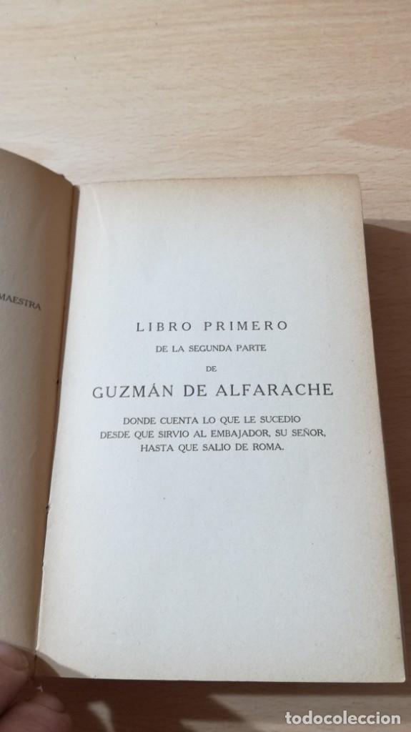 Libros antiguos: GUZMAN DE ALFARACHE - MATEO ALEMAN - RENACIMIENTO - 1912 / S-201 - Foto 14 - 203194256