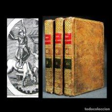 Libros antiguos: AÑO 1820 QUIJOTE 3 VOLS. EL INGENIOSO HIDALGO DON QUIJOTE DE LA MANCHA CERVANTES GRABADOS QUIXOTE. Lote 235296155