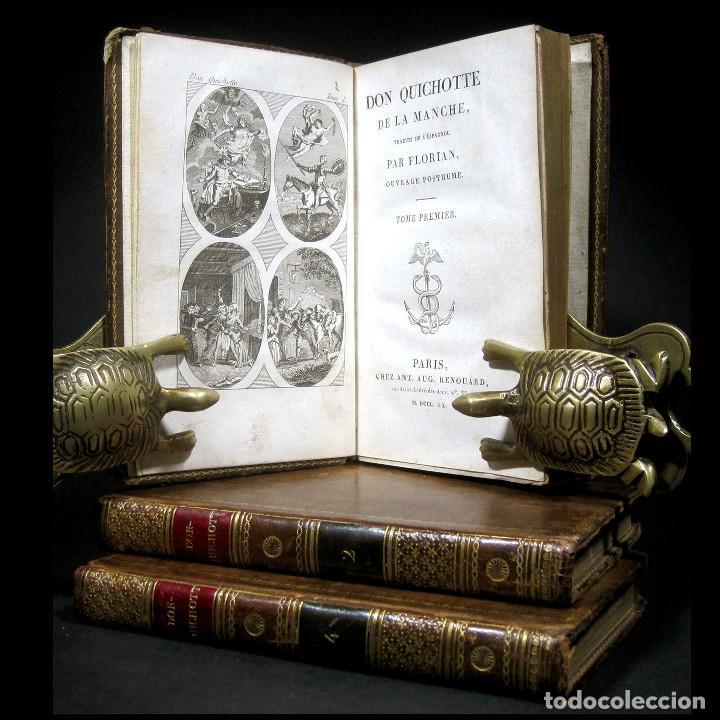 Libros antiguos: Año 1820 Quijote 3 vols. El ingenioso Hidalgo don Quijote de la Mancha Cervantes Grabados Quixote - Foto 15 - 235296155