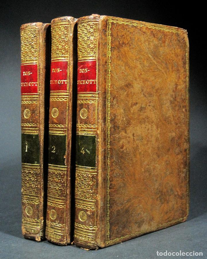 Libros antiguos: Año 1820 Quijote 3 vols. El ingenioso Hidalgo don Quijote de la Mancha Cervantes Grabados Quixote - Foto 16 - 235296155