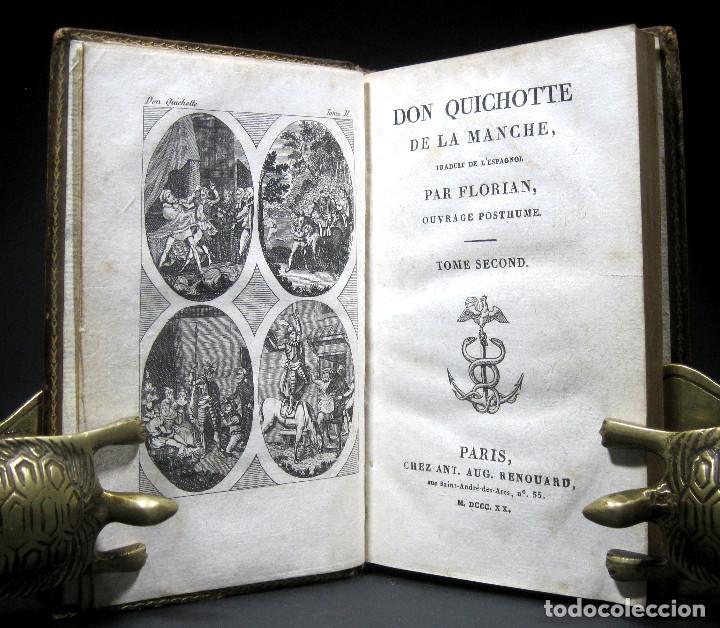 Libros antiguos: Año 1820 Quijote 3 vols. El ingenioso Hidalgo don Quijote de la Mancha Cervantes Grabados Quixote - Foto 4 - 235296155