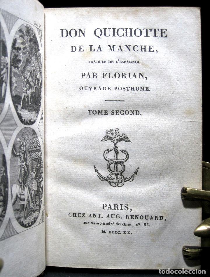 Libros antiguos: Año 1820 Quijote 3 vols. El ingenioso Hidalgo don Quijote de la Mancha Cervantes Grabados Quixote - Foto 6 - 235296155