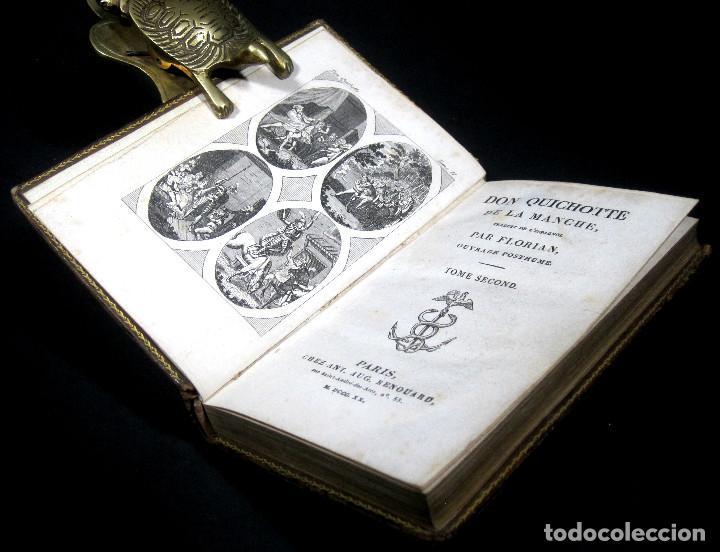 Libros antiguos: Año 1820 Quijote 3 vols. El ingenioso Hidalgo don Quijote de la Mancha Cervantes Grabados Quixote - Foto 7 - 235296155
