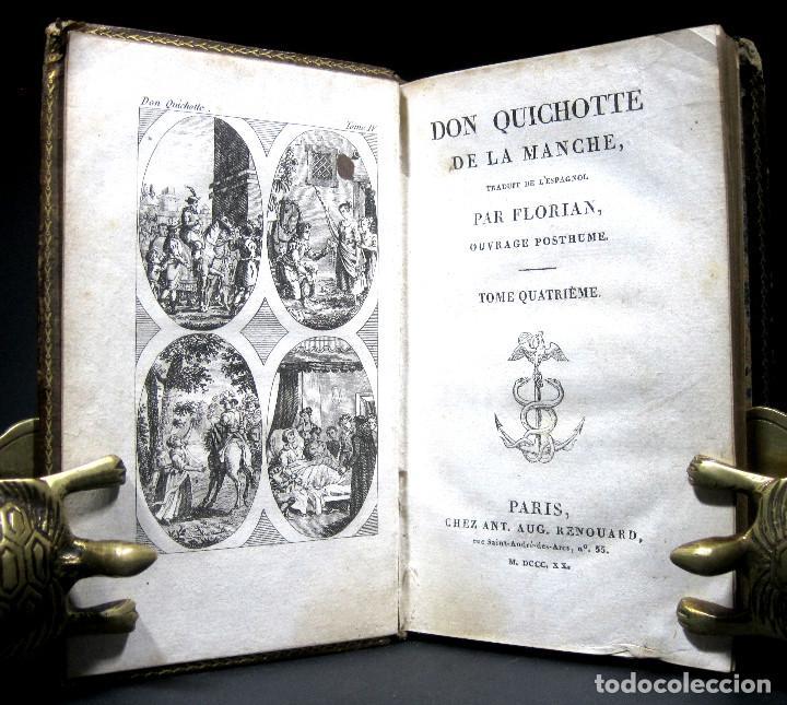 Libros antiguos: Año 1820 Quijote 3 vols. El ingenioso Hidalgo don Quijote de la Mancha Cervantes Grabados Quixote - Foto 8 - 235296155