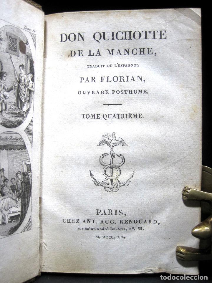 Libros antiguos: Año 1820 Quijote 3 vols. El ingenioso Hidalgo don Quijote de la Mancha Cervantes Grabados Quixote - Foto 10 - 235296155
