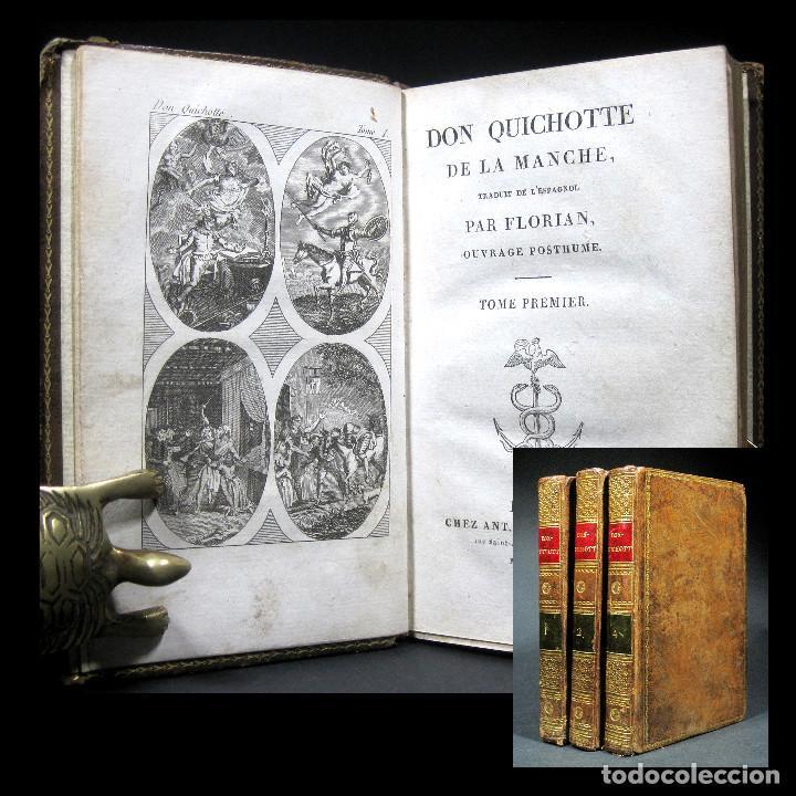Libros antiguos: Año 1820 Quijote 3 vols. El ingenioso Hidalgo don Quijote de la Mancha Cervantes Grabados Quixote - Foto 13 - 235296155