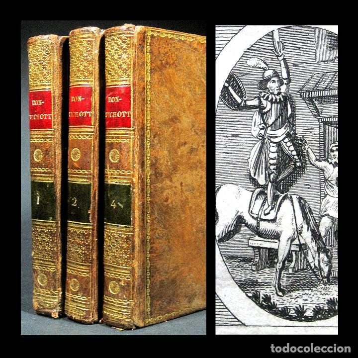 Libros antiguos: Año 1820 Quijote 3 vols. El ingenioso Hidalgo don Quijote de la Mancha Cervantes Grabados Quixote - Foto 14 - 235296155