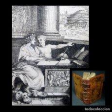 Libros antiguos: AÑO 1687 RARO SÁTIRAS DE JUVENAL Y PERSIO EXTRAORDINARIO GRABADO FRONTISPICIO ANTIGUA ROMA 330 AÑOS. Lote 203797820