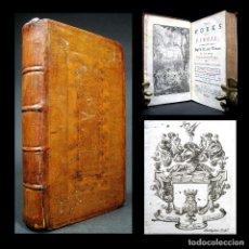 Libros antiguos: AÑO 1731 EX-LIBRIS DE ARQUEÓLOGO ANTIGUA ROMA LA ENEIDA DE VIRGILIO BUENA ENCUADERNACIÓN GRABADOS. Lote 203799086