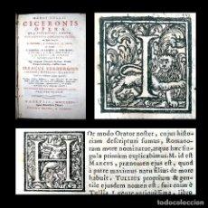Libros antiguos: AÑO 1731 CICERONIS HISTORIA DE INVENTIONE RHETORICORUM ANTIGUA ROMA VENECIA CICERÓN. Lote 203813502