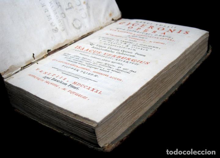 Libros antiguos: Año 1731 Ciceronis Historia De Inventione Rhetoricorum Antigua Roma Venecia Cicerón - Foto 4 - 203813502