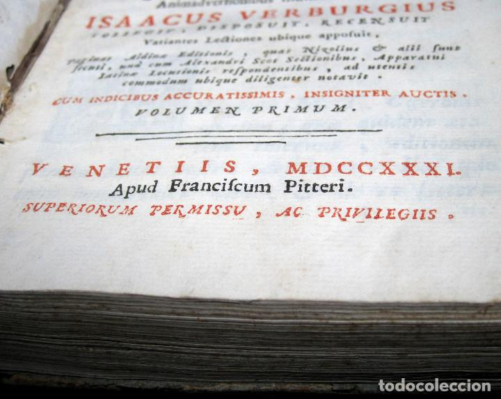 Libros antiguos: Año 1731 Ciceronis Historia De Inventione Rhetoricorum Antigua Roma Venecia Cicerón - Foto 6 - 203813502