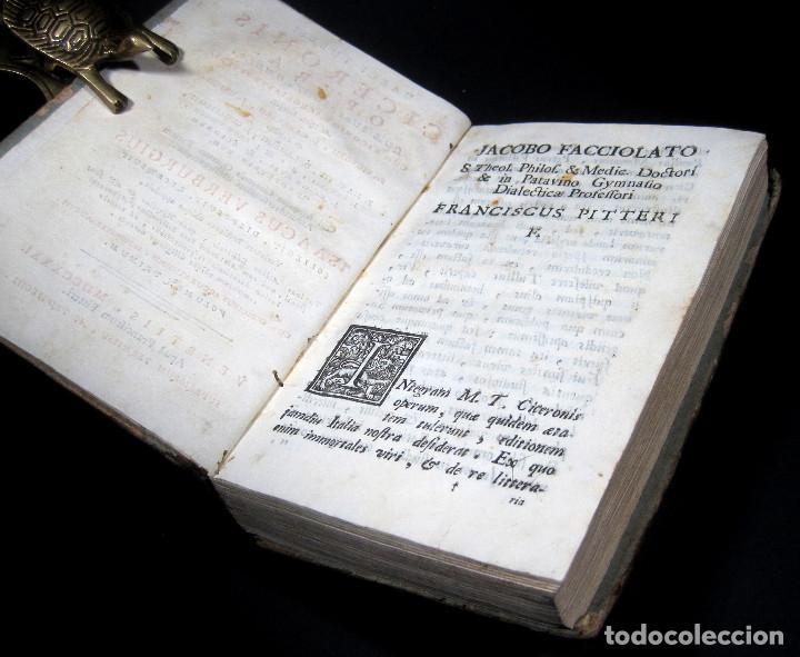 Libros antiguos: Año 1731 Ciceronis Historia De Inventione Rhetoricorum Antigua Roma Venecia Cicerón - Foto 7 - 203813502