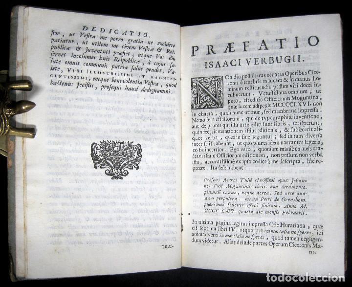 Libros antiguos: Año 1731 Ciceronis Historia De Inventione Rhetoricorum Antigua Roma Venecia Cicerón - Foto 8 - 203813502