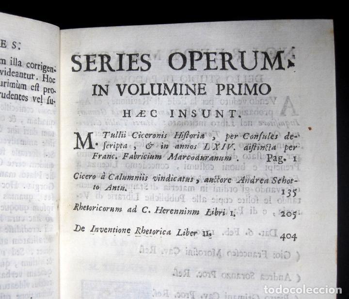 Libros antiguos: Año 1731 Ciceronis Historia De Inventione Rhetoricorum Antigua Roma Venecia Cicerón - Foto 9 - 203813502