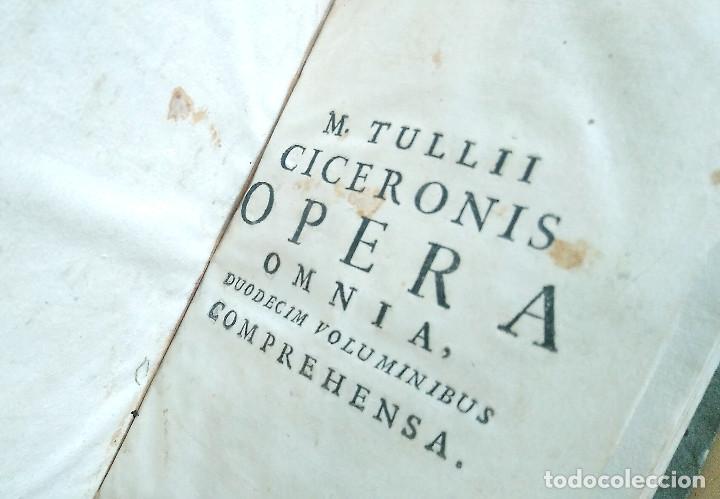 Libros antiguos: Año 1731 Ciceronis Historia De Inventione Rhetoricorum Antigua Roma Venecia Cicerón - Foto 14 - 203813502
