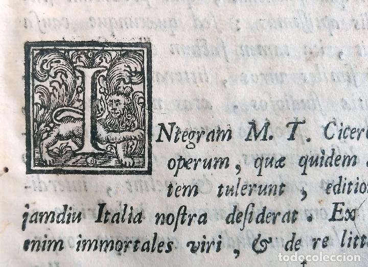 Libros antiguos: Año 1731 Ciceronis Historia De Inventione Rhetoricorum Antigua Roma Venecia Cicerón - Foto 15 - 203813502