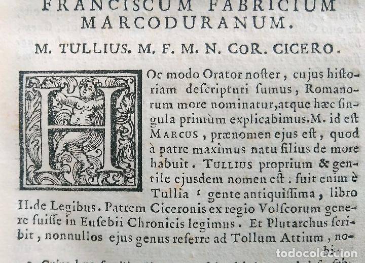 Libros antiguos: Año 1731 Ciceronis Historia De Inventione Rhetoricorum Antigua Roma Venecia Cicerón - Foto 17 - 203813502