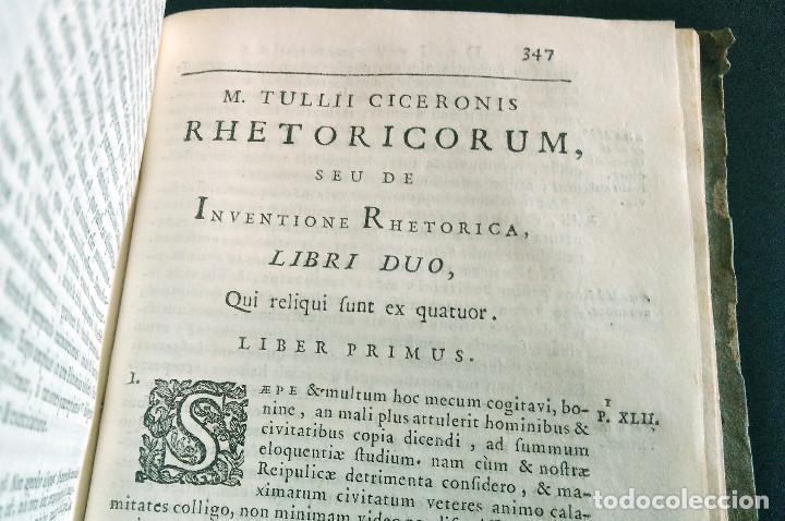 Libros antiguos: Año 1731 Ciceronis Historia De Inventione Rhetoricorum Antigua Roma Venecia Cicerón - Foto 20 - 203813502