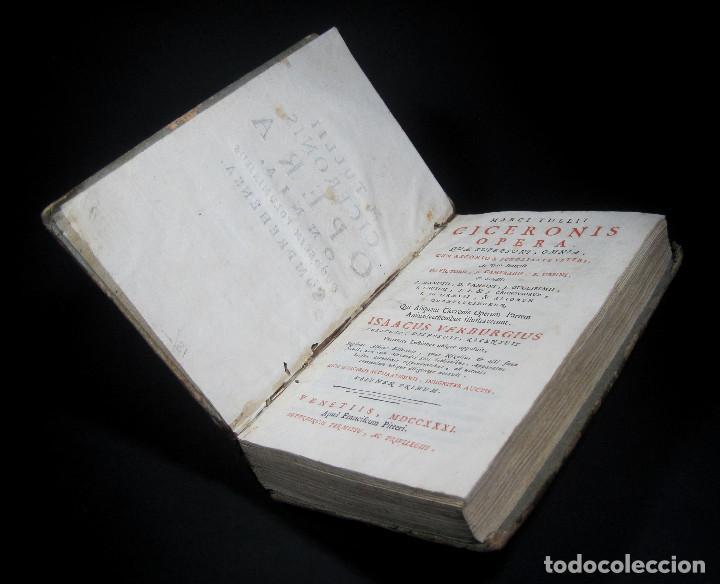 Libros antiguos: Año 1731 Ciceronis Historia De Inventione Rhetoricorum Antigua Roma Venecia Cicerón - Foto 24 - 203813502