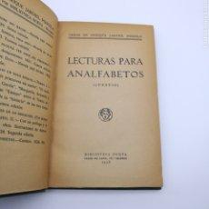 Libros antiguos: LECTURAS PARA ANALFABETOS CUENTOS. Lote 203829067
