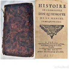 Libros antiguos: AÑO 1695. DON QUIJOTE DE LA MANCHA. CERVANTES.. Lote 203790438
