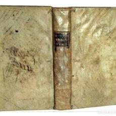 Libros antiguos: AÑO 1567: OBRAS DE ESQUILO, SÓFOCLES Y EURÍPIDES. IMPORTANTE LIBRO EN PERGAMINO DEL SIGLO XVI.. Lote 203868855