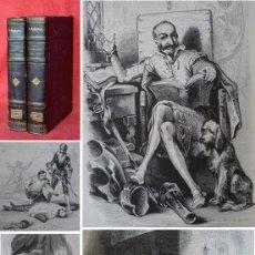 Libros antiguos: AÑO 1840 - 26 CM - DON QUIJOTE DE LA MANCHA - COMPLETO - 800 GRABADOS - ILUSTRADO POR TONY JOHANNOT. Lote 204537283