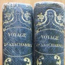 Libros antiguos: VOYAGE DU JEUNE ANACHARSIS EN GRÈCE, PARIS, SIGLO XVIII. TOMOS 7 Y 8. Lote 204593211