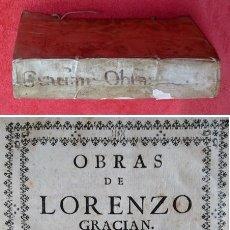 Libros antiguos: AÑO 1748 - 21CM - BALTASAR GRACIÁN - EL CRITICÓN (LAS TRES PARTES) - ARTE DE PRUDENCIA. - EL HÉROE. Lote 204628357