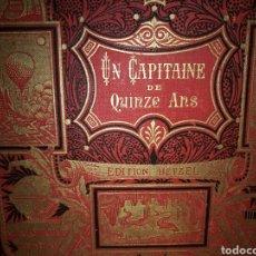 Libros antiguos: JULES VERNE - UN CAPITAN DE QUINCE AÑOS - HETZEL 1888. Lote 204837590