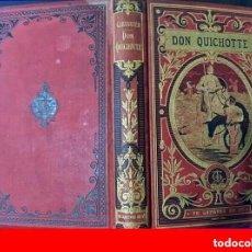 Livros antigos: SIGLO XIX: DON QUIJOTE DE LA MANCHA. PRECIOSA EDICIÓN ILUSTRADA CON BELLA ENCUADERNACIÓN.. Lote 205297593