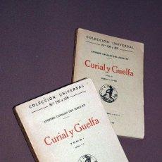 Libros antiguos: CURIAL Y GUELFA. 2 TOMOS. ANÓNIMO CATALÁN DEL SIGLO XV. CALPE, 1920. CABALLERÍA HUMANÍSTICA. Lote 205300573