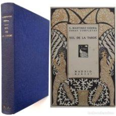 Libros antiguos: 1921 - GREGORIO MARTÍNEZ SIERRA: SOL DE LA TARDE - MADRID, ESTRELLA - MODERNISMO - PORTADA ILUSTRADA. Lote 205371758