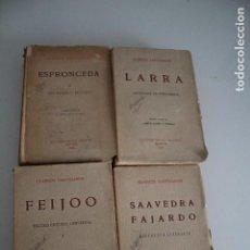Libros antiguos: CLÁSICOS CASTELLANOS 4 TOMOS 1923 EDICIONES DE LA LECTURA. Lote 205647646
