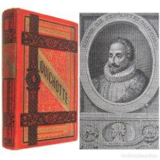 Libros antiguos: 1890 - ANTIGUO QUIJOTE ILUSTRADO POR JOSÉ RIVELLES - CERVANTES - PRECIOSA EDICIÓN ILUSTRADA - RARO. Lote 205685728